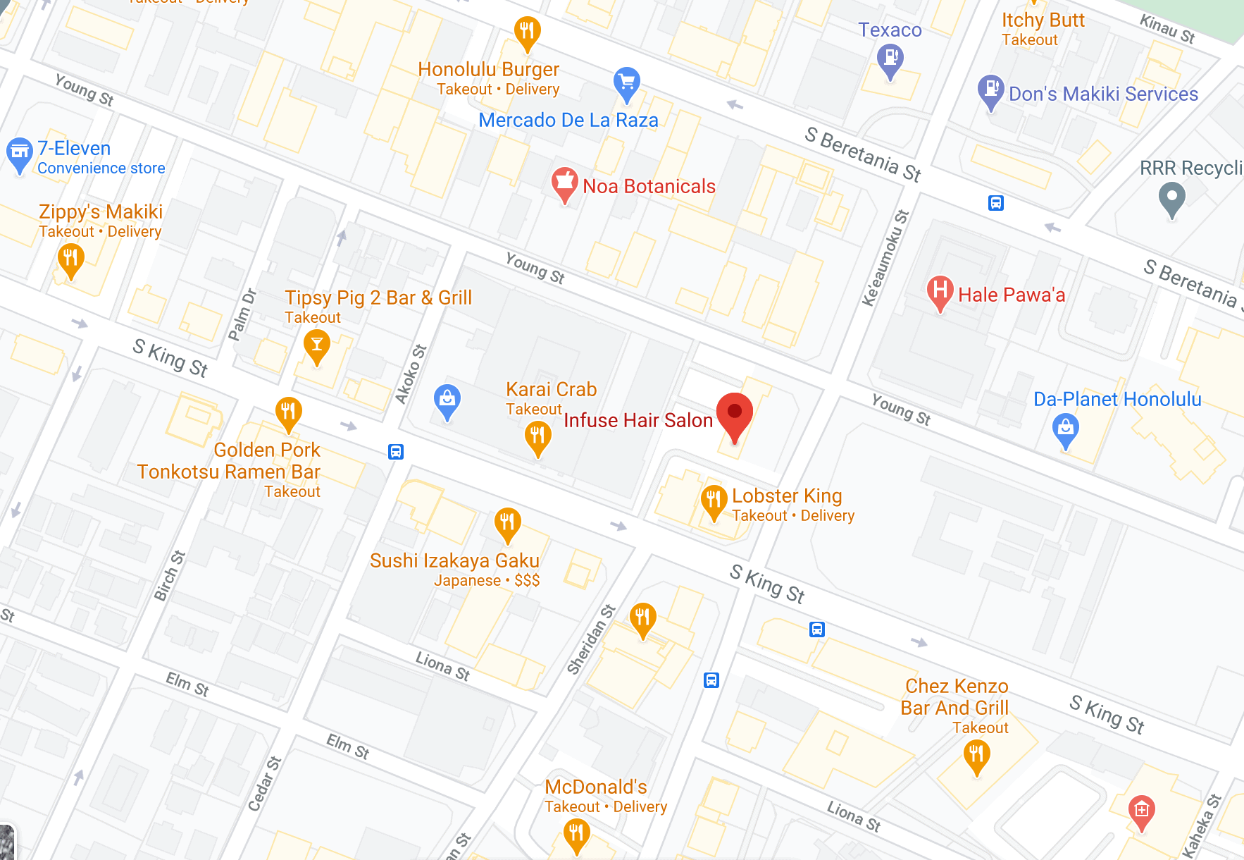 map of Infuse Hair Salon